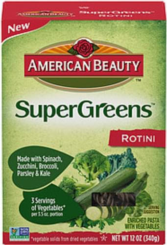 American Beauty Supergreens Rotini With Vegetables Rotini Pasta With Vegetables - 0