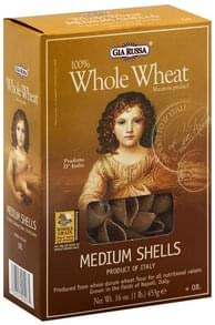 Gia Russa Medium Shells 100% Whole Wheat