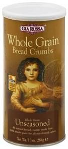 Gia Russa Bread Crumbs Whole Grain, Unseasoned