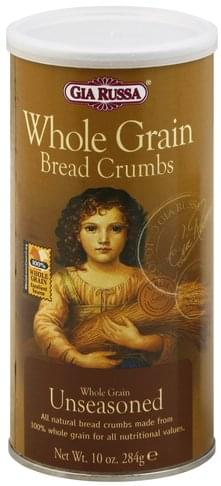 Gia Russa Whole Grain, Unseasoned Bread Crumbs - 10 oz