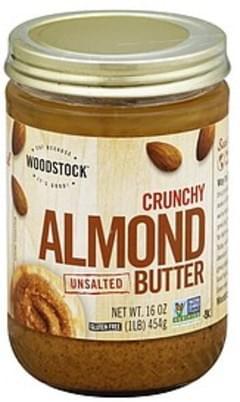 Woodstock Almond Butter Unsalted, Crunchy