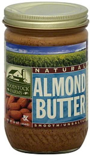 Woodstock Unsalted, Smooth Almond Butter - 16 oz