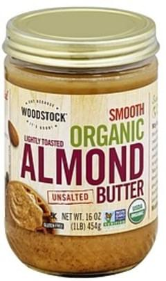 Woodstock Almond Butter Organic, Unsalted, Smooth