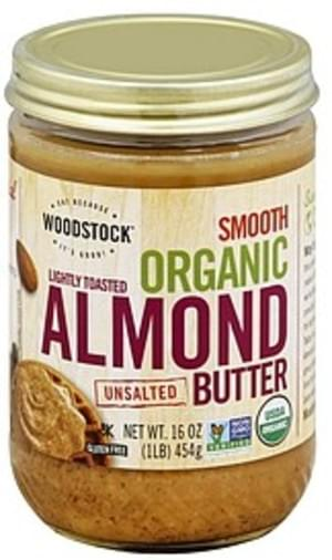 Woodstock Organic, Unsalted, Smooth Almond Butter - 16 oz