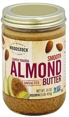 Woodstock Almond Butter Unsalted, Smooth