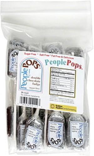 People Pops Double Chocolate Fudge, Sugar Free People Pops - 24 ea