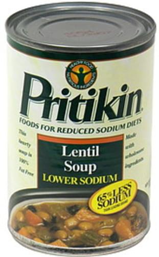 Pritikin Soup, Lentil, Lower Sodium Lentil Soup - 14.75 oz