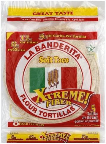 La Banderita Soft Taco, Flour Tortillas - 8 ea