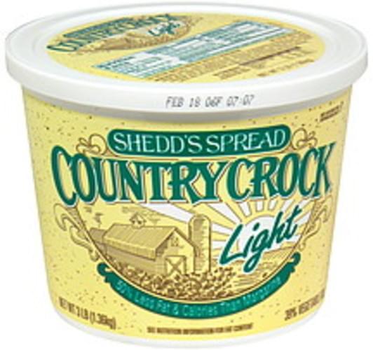 Shedds Light 39% Vegetable Oil Spread - 48 oz
