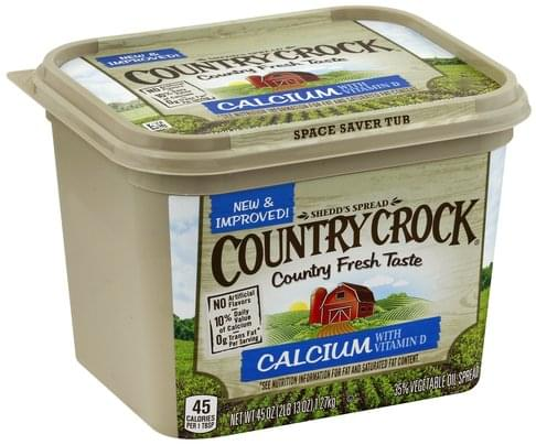 Country Crock 35%, Calcium with Vitamin D Vegetable Oil Spread - 45 oz