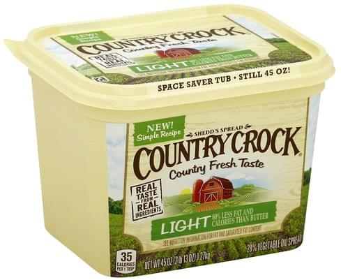 Country Crock 28%, Light Vegetable Oil Spread - 45 oz