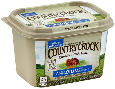 Country Crock 35%, Calcium with Vitamin D Vegetable Oil Spread - 15 oz
