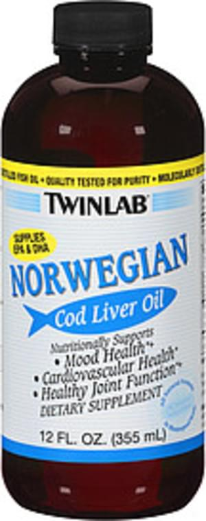 TwinLab Norwegian All Natural Formula Unflavored Cod Liver Oil - 12 oz