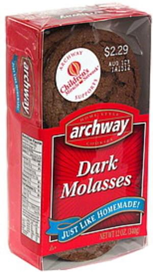 Archway Dark Molasses Cookies - 12 oz
