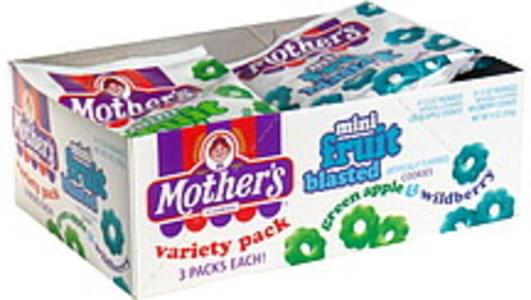 Mother's Cookies Mini, Fruit Blasted, Green Apple & Wildberry