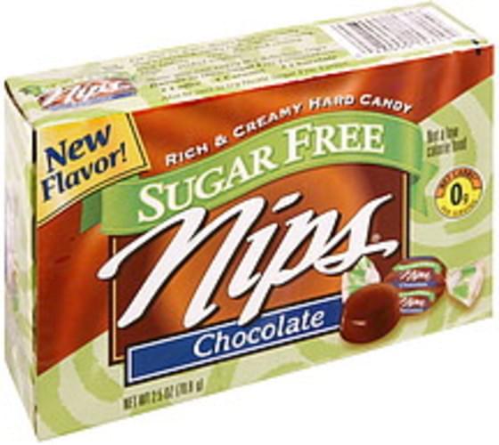 Nips Rich & Creamy, Chocolate, Sugar Free Hard Candy - 2.5 oz