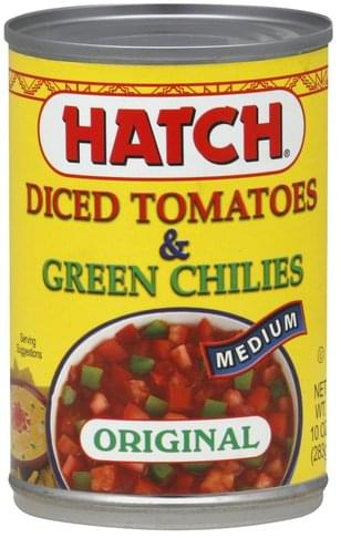 Medium Diced Tomatoes & Green Chilies