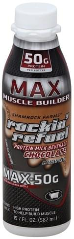 Shamrock Farms Muscle Builder, Max, Chocolate Protein Milk Beverage - 19.7 oz