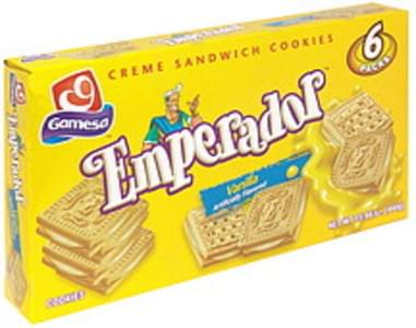 Gamesa Emperador Creme Sandwich Cookies Vanilla