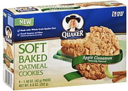 Quaker Cookies Oatmeal, Soft Baked, Apple Cinnamon