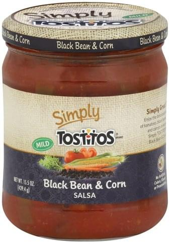 Tostitos Black Bean & Corn, Mild Salsa - 15.5 oz