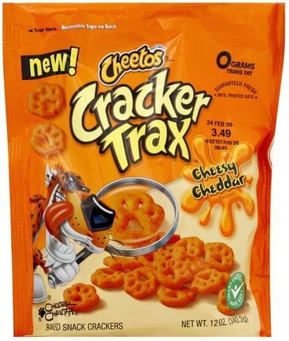 Cheetos Cheesy Cheddar Flavored Cracker Trax - 12 oz ...
