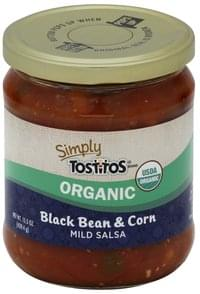 Tostitos Salsa Organic, Black Bean & Corn, Mild