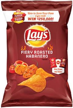Lay's Potato Chips Fiery Roasted Habanero