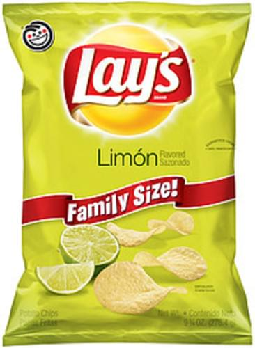 Lay S Limon Potato Chips 9 75 Ounce Plastic Bag