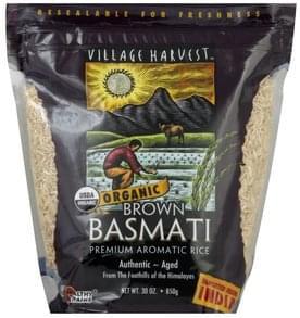 Village Harvest Rice Premium Aromatic, Organic, Brown Basmati