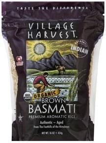 Village Harvest Rice Organic, Brown Basmati