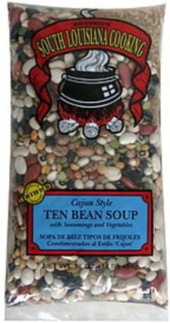 Bootsies Ten Bean Soup Cajun Style, with Seasonings and Vegetables