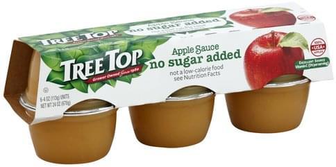 Tree Top No Sugar Added Apple Sauce - 6 ea