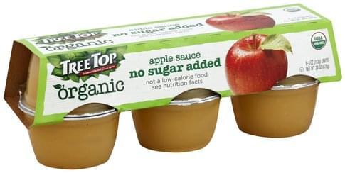 Tree Top No Sugar Added, Organic Apple Sauce - 6 ea