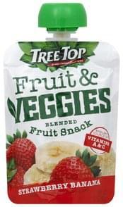 Tree Top Fruit & Veggies Blended Fruit Snack, Strawberry Banana