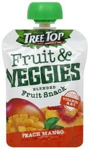 Tree Top Fruit & Veggies Blended Fruit Snack, Peach Mango