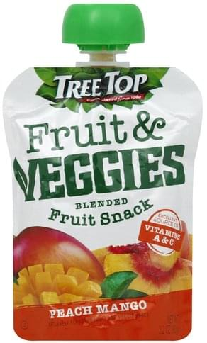Tree Top Blended Fruit Snack, Peach Mango Fruit & Veggies - 3.2 oz