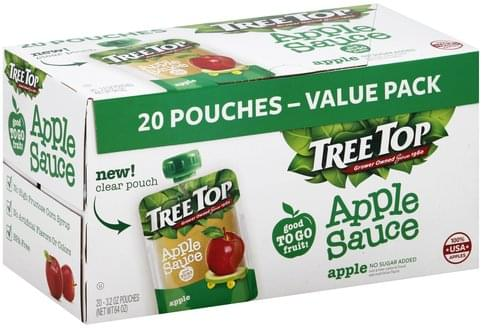 Tree Top Apple, Value Pack Apple Sauce - 20 ea