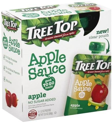 Tree Top Apple Apple Sauce - 4 ea