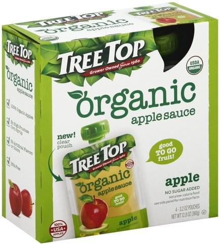 Tree Top Organic, Apple Apple Sauce - 4 ea