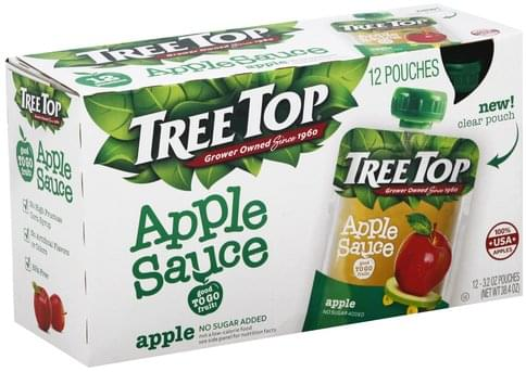 Tree Top Apple Apple Sauce - 12 ea