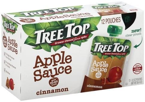 Tree Top Cinnamon Apple Sauce - 12 ea