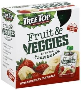 Tree Top Blended Fruit Snack Fruit & Veggies, Strawberry Banana