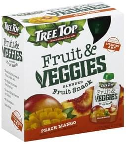 Tree Top Blend Fruit Snack Fruit & Veggies, Peach Mango
