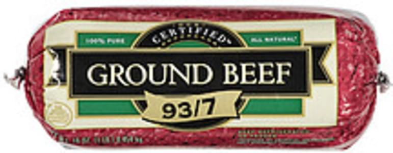 Our Certified Ground Beef 93/7