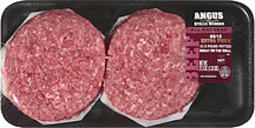 Cargill Angus 85/15 1/3 Pound Patties Steak Burger - 4