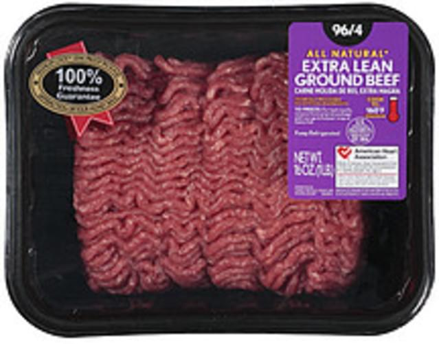 All Natural 96/4 Extra Lean Ground Beef - 16 oz