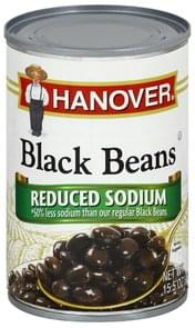 Hanover Black Beans Reduced Sodium