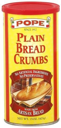 Pope Plain Bread Crumbs - 15 oz