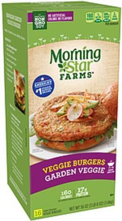 MorningStar Farms Morning Star Farms Garden Veggie Veggie Burgers Garden Veggie